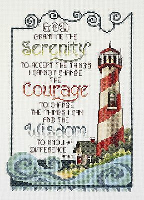 Janlynn 1-Piece Serenity Lighthouse Counted Cross Stitch Kit