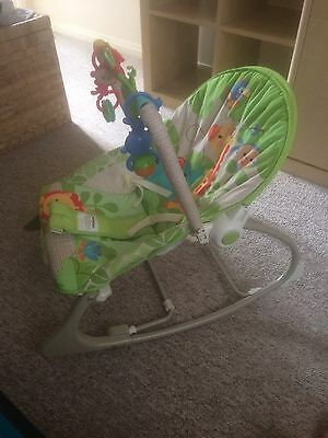 Fisher Price Rainforest Freinds Baby Infant To Toddler Chair Bouncer Seat