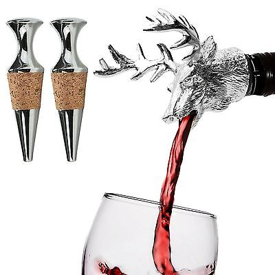 Stags Head Deer head Bar Pourer Drip proof and Wine Bottle Stopper