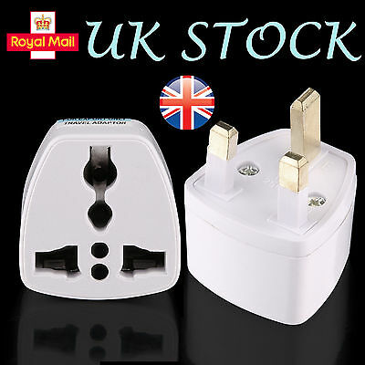 1/3/5X Usa Europe Ger France Holland To Uk Tourist Travel Plug Power Adaptor
