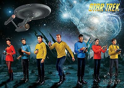 Star Trek Original Series CREW Poster Genuine Hubble Background #1