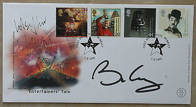 PHIL COLLINS & BRIAN MAY signed FDC - with Phil Collins self doodle