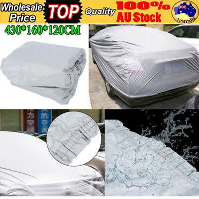 M Universal Full Car Cover Waterproof Resistant Anti-Scratch Dust Protect Medium