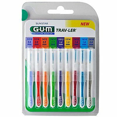 Sunstar Gum Travlerpack kit de 9 brossettes interdentaires