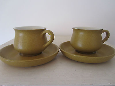 Denby ODE  2 x Cups and Saucers