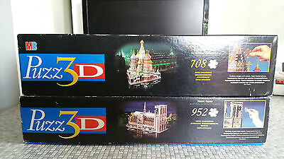 3D Puzzle 2x 708 St Basil s cathedral Moscow + 953 Notre Dame