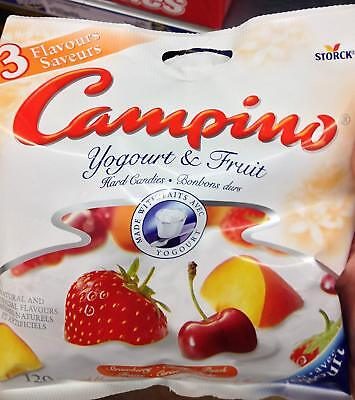 6x Packages of Campino Yogourt & Fruit Candy 3 Flavours 120gx6=720g Total
