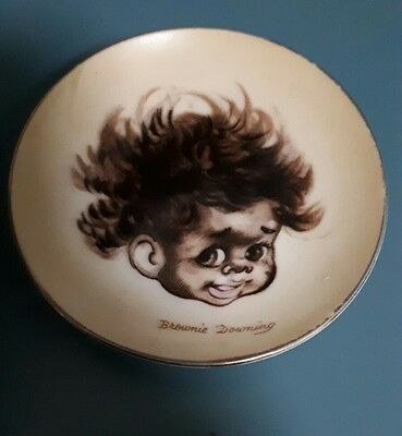 Brownie Downing plate aboriginal Australiana Collectable Pottery Vintage Kitsch