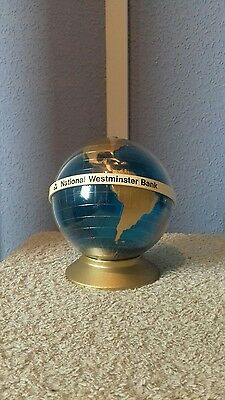vintage globe money box -national Westminster Bank  c 60s or 70s