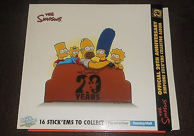 2009 The Simpsons STICK EMS Complete set of 16 Toys in Folder