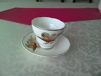 Fenton China Company Cup and Saucer Pheasant Decoration