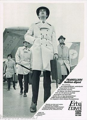 Mantel Hut Erba Erlangen Lufthansa Flughafen 1970 Reklame (5) suit men fashion