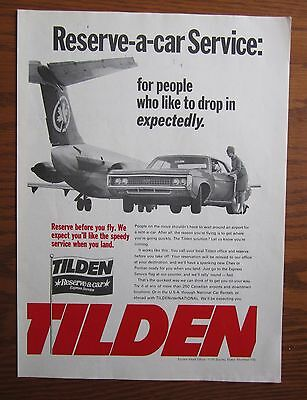1969 Canadian Car Ad Chevrolet Caprice Tilden Rent A Car Ad