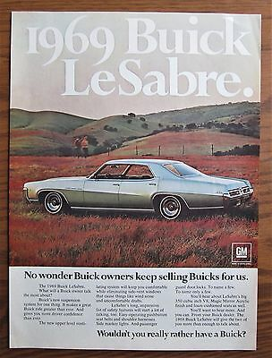 Stunning 1969 Canadian Car Ad Buick Lesabre Car 4 Door