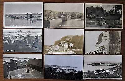 Lot ( 81 ) Early 1900 Antique Postcards New Brunswick Nova Scotia Canada Rppc