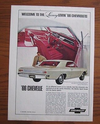 1966 Canadian Chevrolet Car Ad  Chevelle Canada