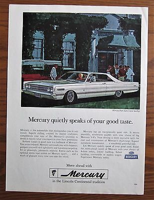 Stunning 1966 Canadian Car Ad Ford Mercury Park Lane 2 Door Hardtop Canada