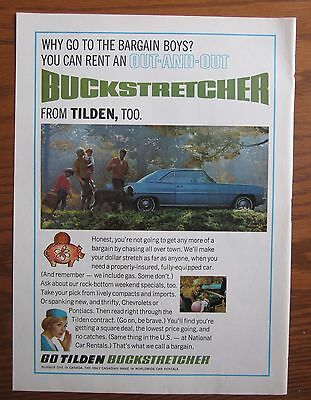 1966 Canadian Car Ad Chevrolet Nova Tilden Rent A Car Ad