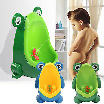 Cute Frog Kids Potty Toilet Training Children Urinal for Boys Pee Trainer