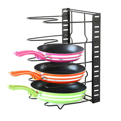 SimpleHouseware Kitchen Cabinet Pantry Pan and Pot Lid Organizer Rack Holder WS