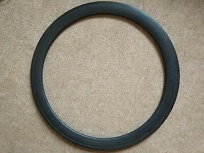 Bicycle Carbon Rim Wheel Rear 24 holes 52mm Used 700 23c Used