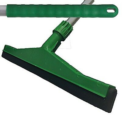 Green Professional Hard Floor Cleaning Squeegee & Strong Alloy Handle For Til...