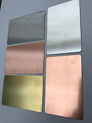 Aluminium / Copper / Brass / Stainless Credit Card Debit Card Wallet Protector