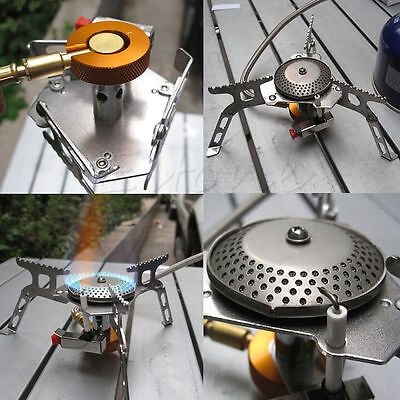 3500W Portable Gas Stove Butane Propane Burner For Outdoor Camping Hiking Picnic