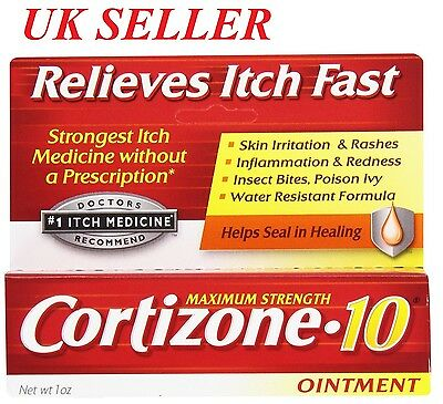 Cortizone 10 Maximum Strength Itch Relief Ointment  1oz USA IMPORT