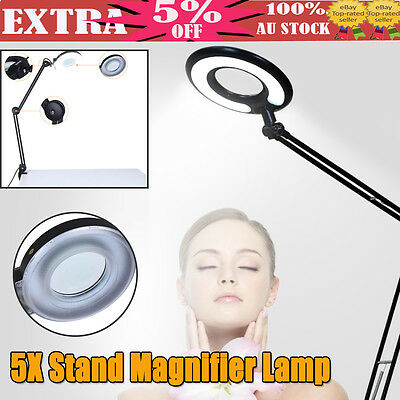 New Magnifying Lamp Glass Lens Fluorescents Light 5x Magnifier Desk Table Clamp