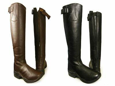Ladies Horse Riding Equi Leather Yard Showing Jodhpur Long Tall Boots Size 3-10
