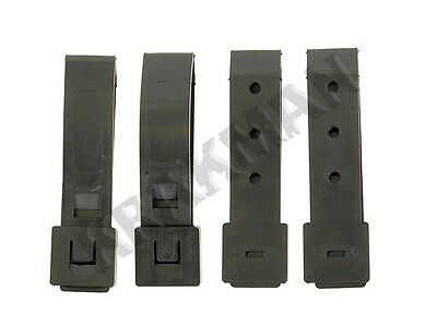 Short Black Malice Clips for Molle Webbing & Kydex Holsters Airsoft/Paintball