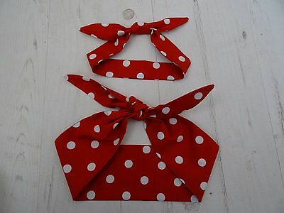 Matching Mum & Baby Head Scarf - Red Polka Dot - Baby Shower Bandana Gift Set