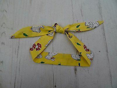 Baby Head Scarf - Yellow Rabbit - Hair Unisex Rockabilly Bandana