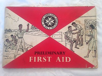 Vintage St Johns Ambulance Preliminary First Aid