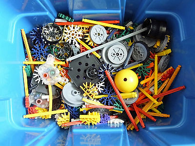 K'Nex Mixed Bundle in Blue Tub - Over 400 Pieces
