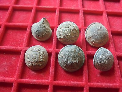 Superb set of 6  military  buttons   , Napoleonic wars !!!!