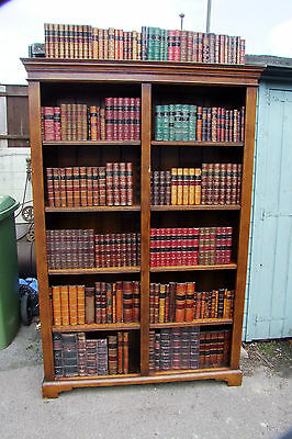 Solid Oak Open Bookcase With Eight Adjustable Shelves