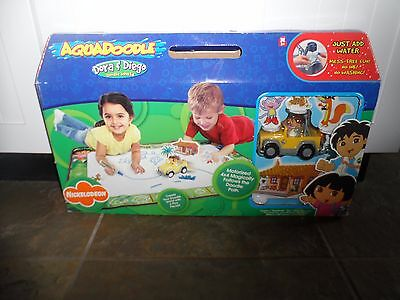 New! Rare! HTF SPINMASTER AQUADOODLE DORA AND DIEGO ADVENTURE MAT W/ CAR