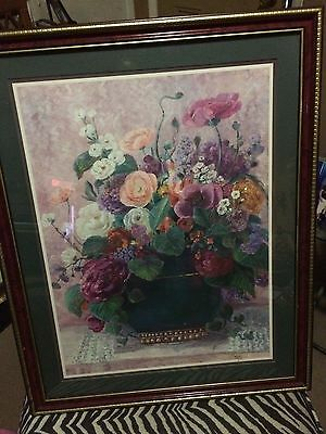 Beautiful large floral picture by Barbara Mock