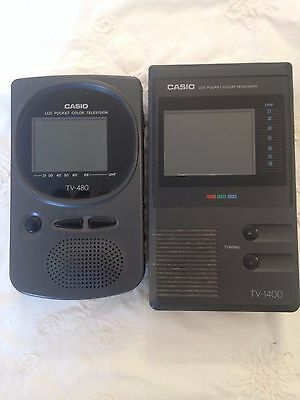 Casio TV-480 - Casio TV-1400 portable tv