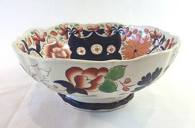 Large Gaudy Welsh Footed Bowl c1840