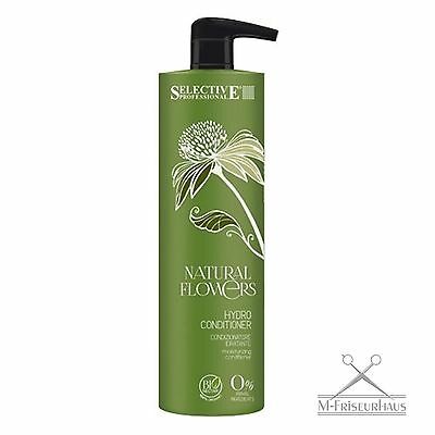 SELECTIVE Professional NATURAL FLOWERS Hydro 100% BIO Conditioner 1000ml + PUMPE