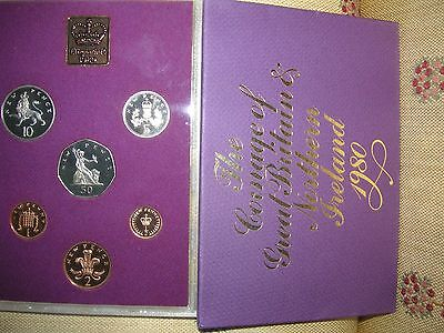 1980 Royal Mint Coinage of GB + N Ireland 6 coins in sealed case