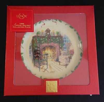 Lenox Annual Holiday Christmas Plate 1999 Winter's Warmth, Ninth in Series