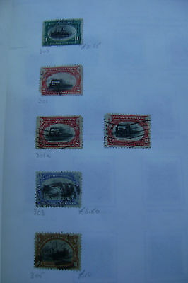 United States of America postage stamps early 20th century used