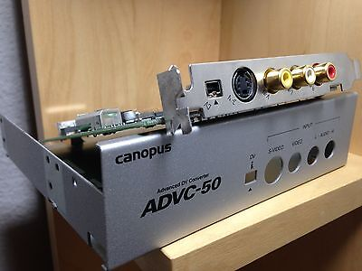 Canopus ADVC-50 Analog PAL/NTSC to DV video converter PCI card + FireWire Card