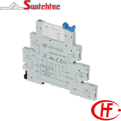 6Mm Hongfa Din Rail Mount Relay Module 6A 24Vac/dc
