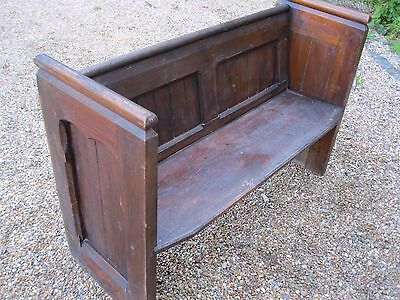 VICTORIAN CHURCH PEW. Delivery poss. ALSO LONGER PEWS, CHAPEL CHAIRS & BENCHES.