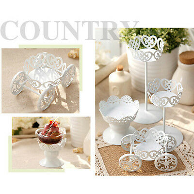 Hollow Designed Metal Steel Wedding Cupcake Dessert Iron Cake Stand Party